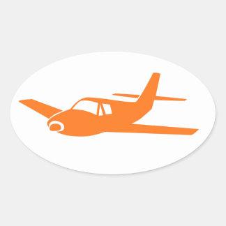 Etiquetas brancas alaranjadas simples do oval do adesivo oval
