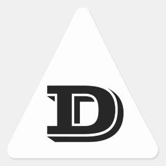 Etiquetas brancas do triângulo da letra D Vineta