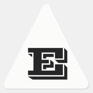 Etiquetas brancas do triângulo da letra E Vineta