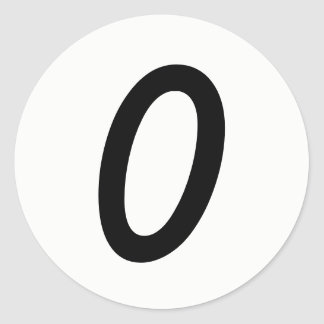 Etiquetas brancas redondas pequenas de 0 números