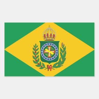 Etiquetas brasileiras velhas da bandeira adesivo retangular