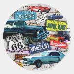 Etiquetas - carros da rota 66_Classic Adesivo