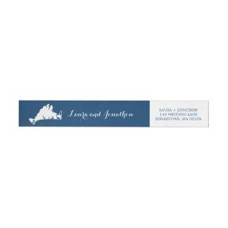 Etiquetas Casamento do mapa do vinhedo de Marthas dos azuis