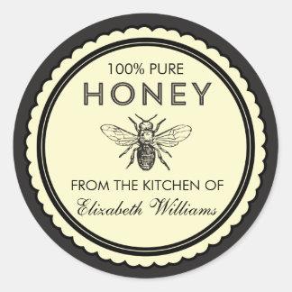 Etiquetas caseiros do mel do vintage