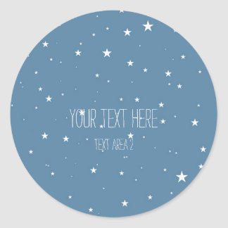 Etiquetas celestiais azuis do favor das estrelas adesivo