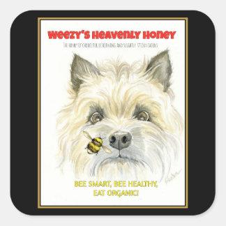 Etiquetas celestiais de Terrier do mel