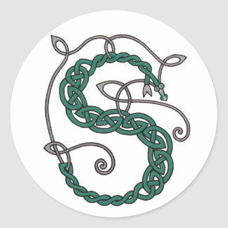 Etiquetas celtas da letra S Adesivos Redondos