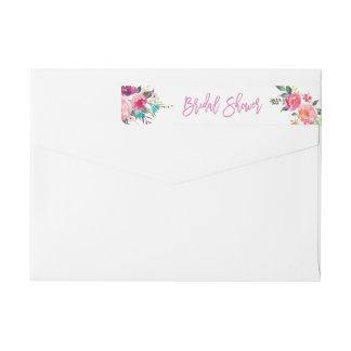 Etiquetas Chá de panela floral roxo cor-de-rosa botânico