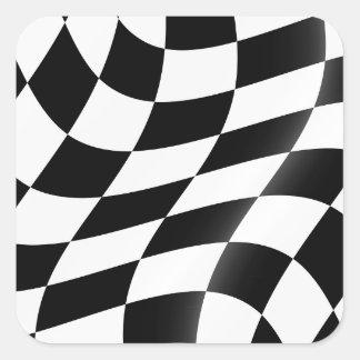 Etiquetas Checkered preto e branco da bandeira