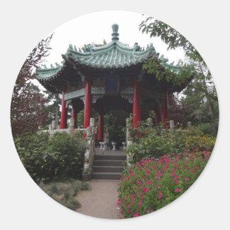 Etiquetas chinesas do pavilhão de San Francisco
