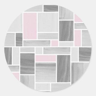 Etiquetas cinzentas e cor-de-rosa do vitral adesivo