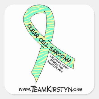 Etiquetas claras da consciência do Sarcoma da Adesivo Quadrado