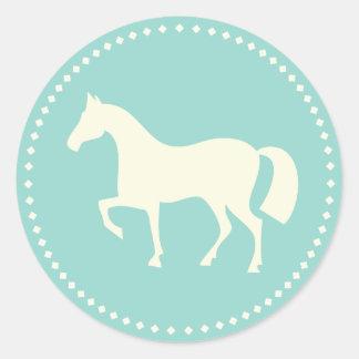 Etiquetas clássicas da silhueta do cavalo