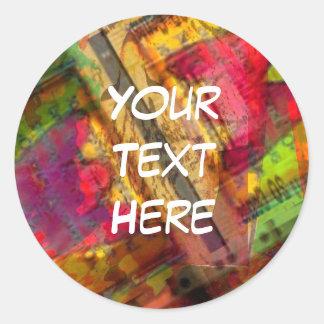 Etiquetas coloridas da arte abstracta