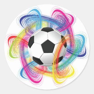 Etiquetas coloridas da bola de futebol
