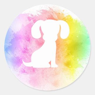 Etiquetas coloridas do cão