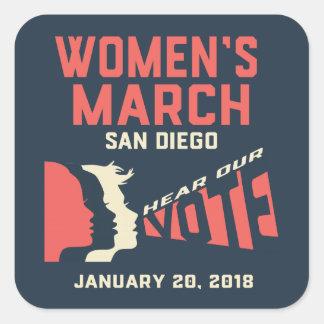 Etiquetas colossais do março San Diego das