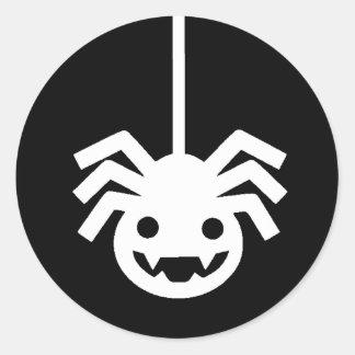 Etiquetas com fome do Dia das Bruxas da aranha