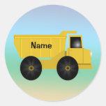 Etiquetas conhecidas do camião basculante adesivos em formato redondos