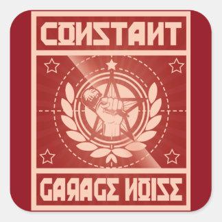 Etiquetas constantes do ruído da garagem adesivo quadrado