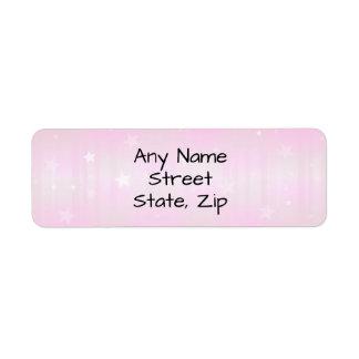 Etiquetas cor-de-rosa bonito do fundo da estrela
