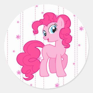 Etiquetas cor-de-rosa bonitos do pônei para as