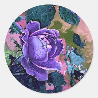Etiquetas cor-de-rosa da flor do abstrato por