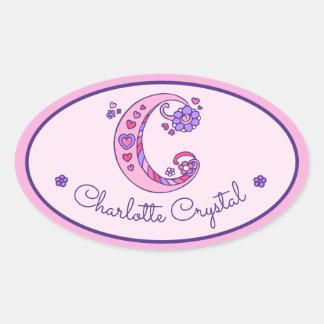 Etiquetas cor-de-rosa da identificação do nome