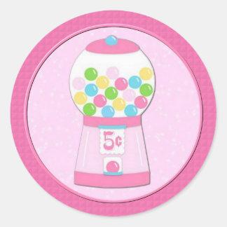 Etiquetas cor-de-rosa da máquina do Bubblegum dos Adesivo