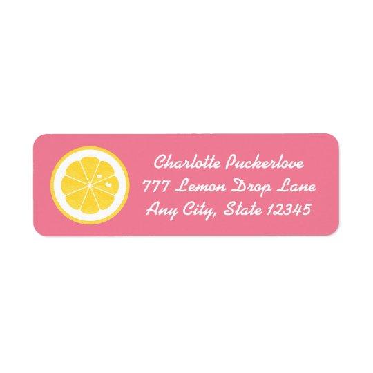 Etiquetas cor-de-rosa das etiquetas de endereço do etiqueta endereço de retorno