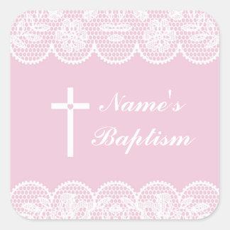 Etiquetas cor-de-rosa do laço da etiqueta de nome