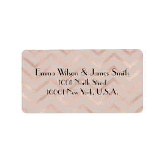 Etiquetas cor-de-rosa do retorno do endereço do etiqueta de endereço