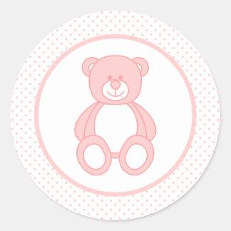 Etiquetas cor-de-rosa do urso de ursinho