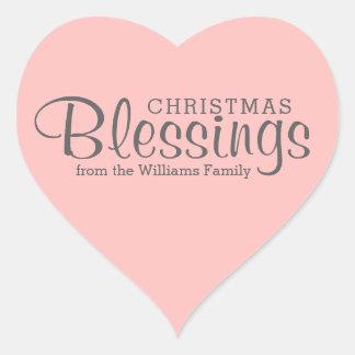 Etiquetas cor-de-rosa editáveis das bênçãos do