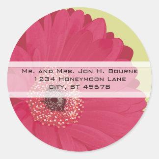 Etiquetas cor-de-rosa elegantes do casamento da