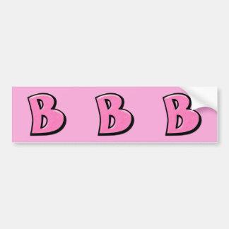 Etiquetas cor-de-rosa parvas do entalhe da letra B Adesivos
