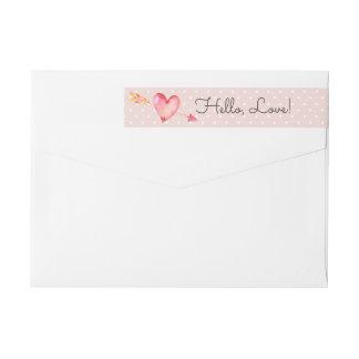 Etiquetas Coram as bolinhas cor-de-rosa & o endereço do
