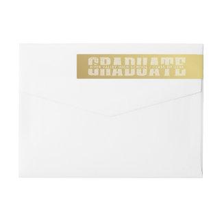 Etiquetas Cores da escola do ouro da rotulação do time do