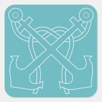 Etiquetas cruzadas náuticas da âncora
