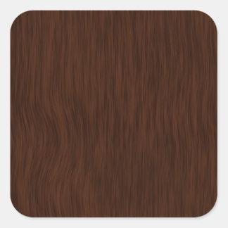 Etiquetas customizáveis com olhar de madeira adesivo quadrado