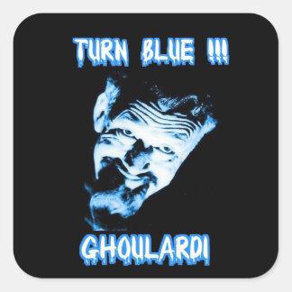 Etiquetas customizáveis de Ghoulardi (azul da Adesivo Quadrado