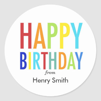 Etiquetas customizáveis do feliz aniversario para adesivo