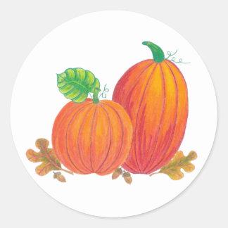 Etiquetas da abóbora da colheita do outono