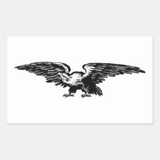 Etiquetas da águia americana da ilustração da