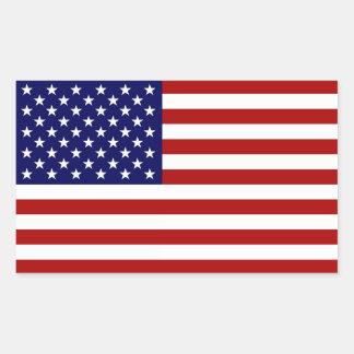 Etiquetas da bandeira americana