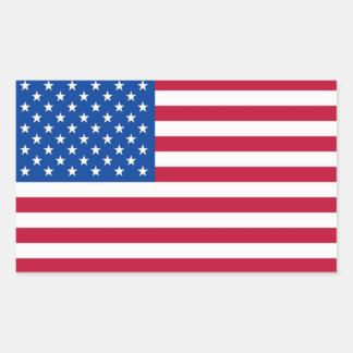 Etiquetas da bandeira americana adesivo em forma retangular