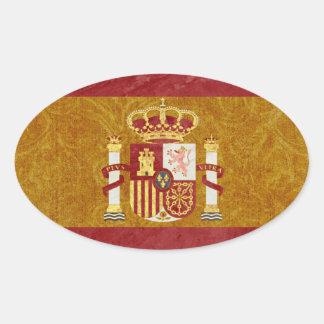 Etiquetas da bandeira da espanha