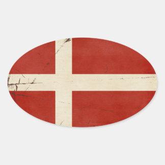 Etiquetas da bandeira de Dinamarca
