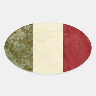 Etiquetas da bandeira de Italia