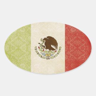 Etiquetas da bandeira de México